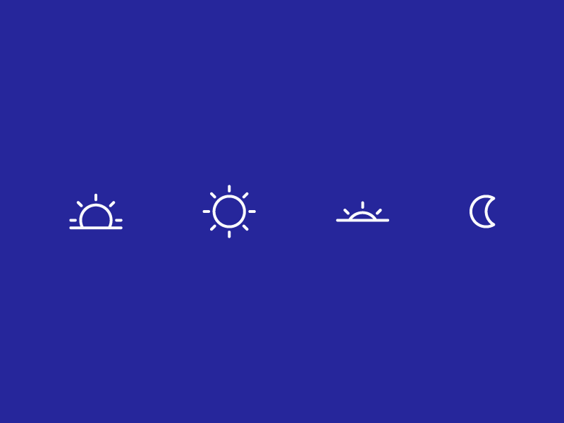 time-of-day icons line simple icon night day moon sunset sunrise sun