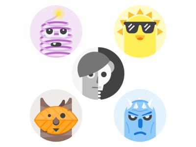 Seasonal avatars