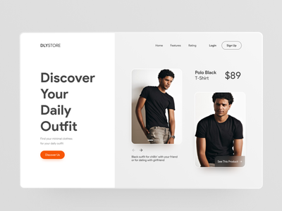 DLYSTORE E-Commerce minimalist clean web app minimal ui design ui design