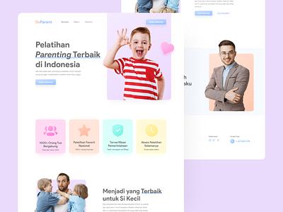 BeParent Landing Page web design agency clean colorful web designer web design ui ui design design