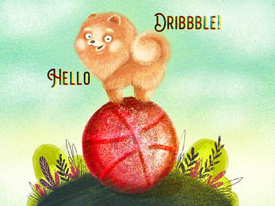 Hello dribbble! animal illustration animal art animal dog illustration characterdesign procreate art digital art children book illustration childrens book illustration art illustraion