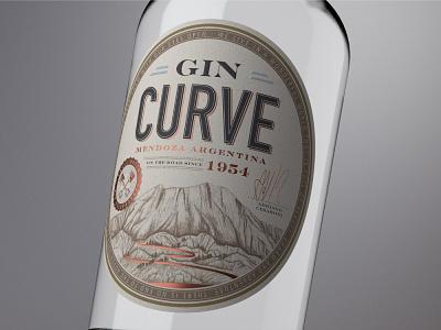 Curve Gin gin procreate product graphic design typography premium design packaging packagedesign logo labeldesign illustration bottle mockup bottle label award winning