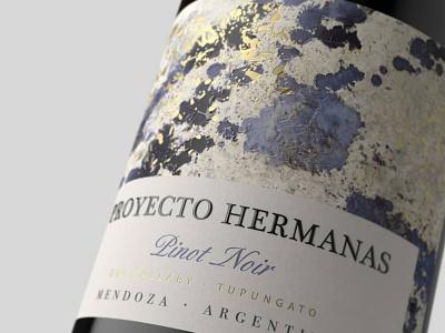 Proyecto Hermanas concept art wine label winery branding concept branding packagedesign award winning bottle mockup packaging illustration bottle label