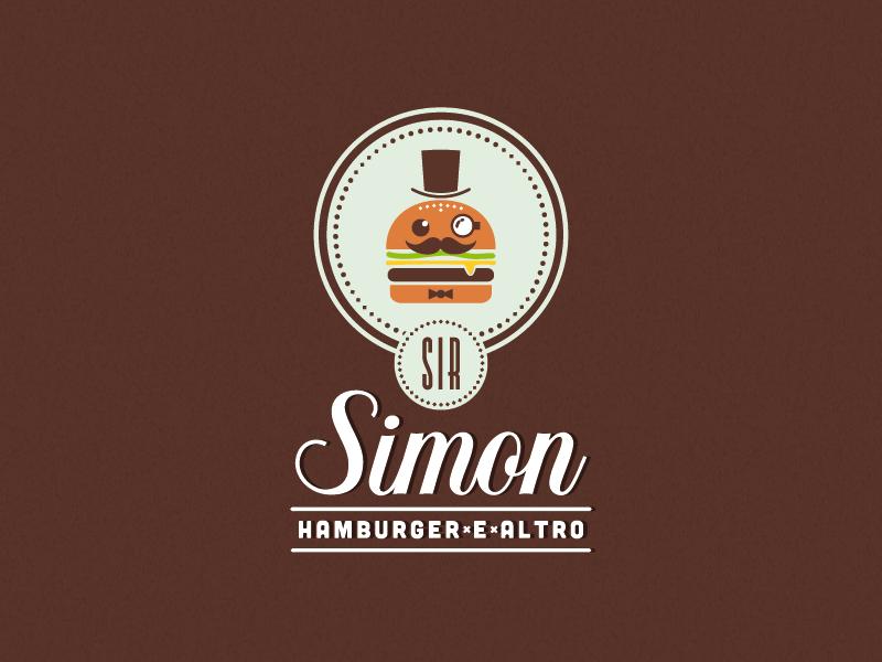 Sir Simon logo food hamburger