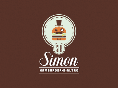 Sir Simon logo food hamburger