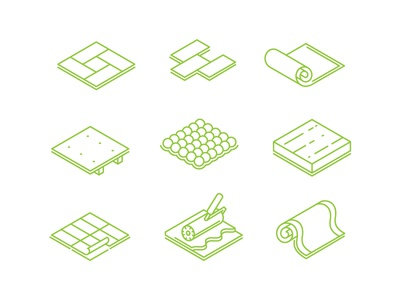 Icons for flooring  online store