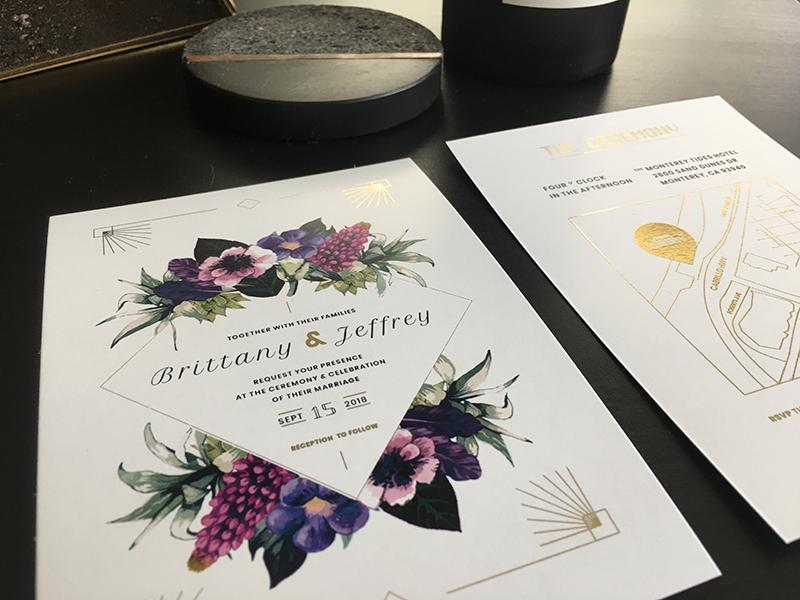 Wedding Invitation Print By Jeffrey Boese On Dribbble