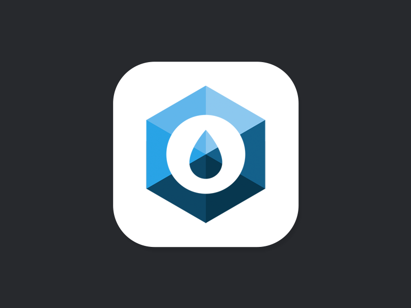 Surfaid App Icon ui ios iphone ios7 icon surfaid app water student project nonprofit minimal ui design