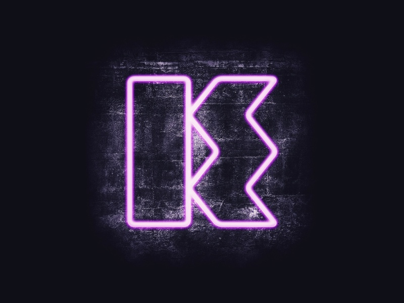 Neon Logo neon sign logo branding 80s cyberpunk art direction