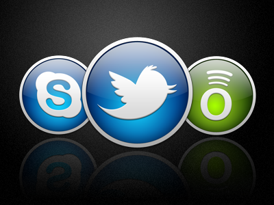 Twitter Skype Spotify icon icon design itunes icon consistency