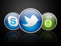 Twitter Skype Spotify