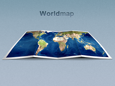 Worldmap Folded illustration web design photoshop world map