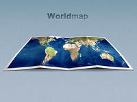 Worldmap Folded