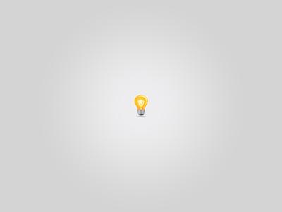 Got it! icon photoshop lamp light bulb idea yellow