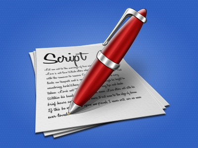 Script icon tweaked icon pen red pen icon pages photoshop script