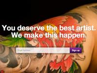 First Shot: Tattoo Hero splash page