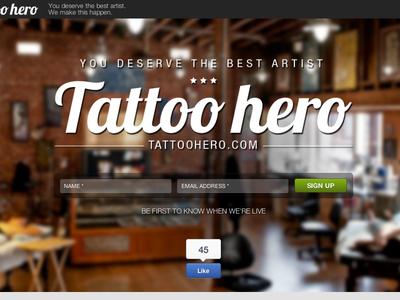 Tattoo Hero Landing Page
