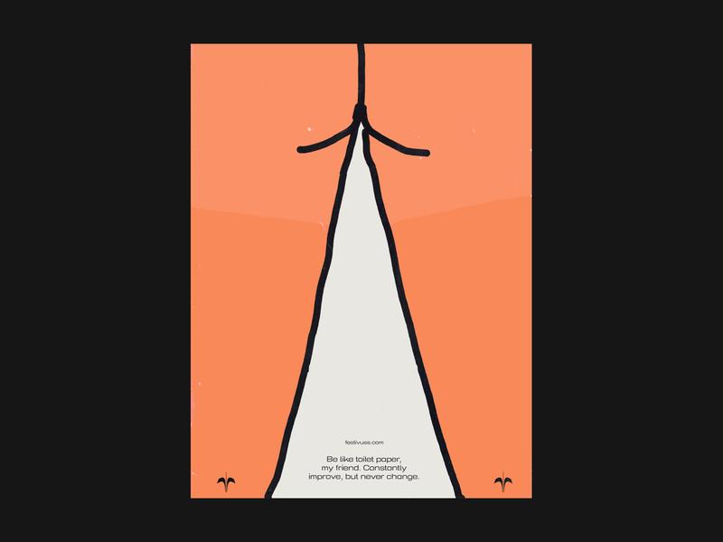 Festivuss - Toilet paper poster illustration branding seinfeld typogaphy poster clothing festivus toilet paper