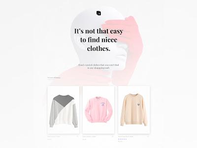 Dystoppia Clothing Shop clean modern dystopian aesthetic pants shirt t-shirt ecommerce desktop fashion shop clothing