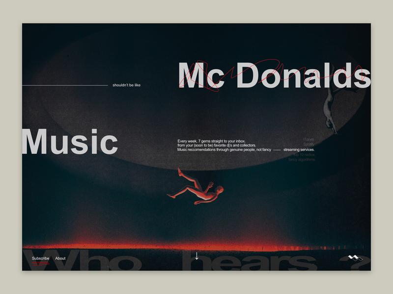 Whohears - Landing page landing page clean branding logo typography illustration music desktop ui