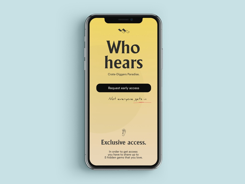 Whohears - Landing page 3.0 vinyls electronic music music app branding logo music mobile ui