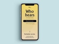 Whohears - Landing page 3.0