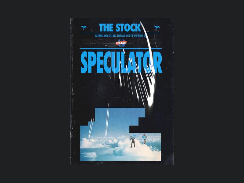 The Stock speculator fashion t-shirt branding crypto typogaphy graphic design poster