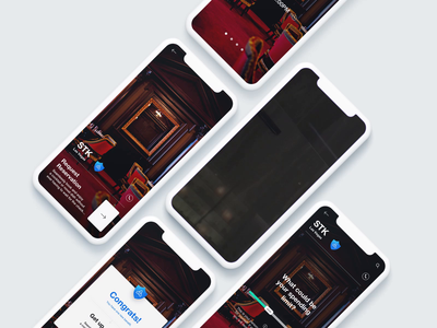 Never wait for your table check again reservations luxury booking restaurant motion onboarding mobile ui