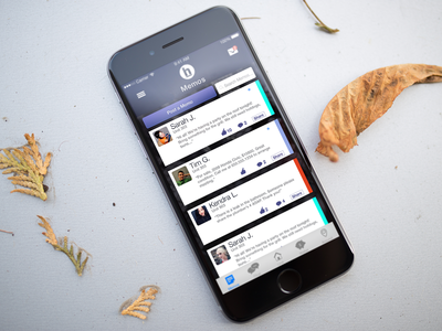 iPhone app comments screen likes visual design social media iphone 6 iphone app