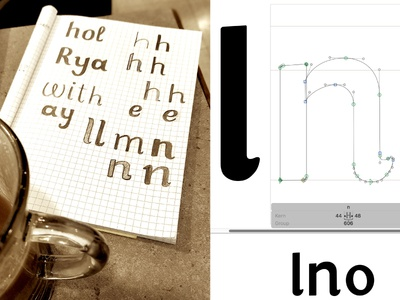 Type Design WIP type high x-height friendly informal lettering typography type design