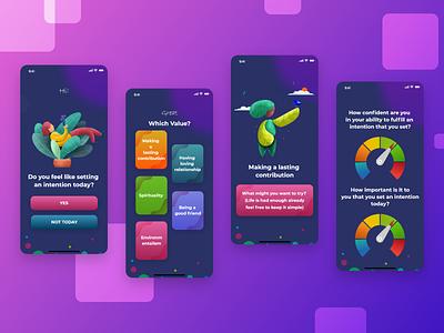 Social Contribution App Design branding illustration graphic design mobile design mobile app design