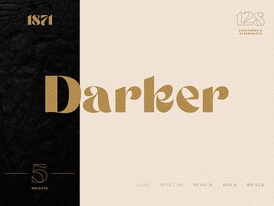 Darker Sans Serif + Extras ligatures sans serif font sans serif typography logo type branding lettering