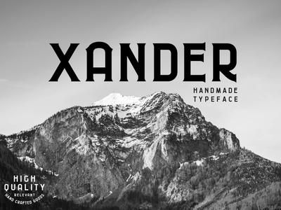 Xander typeface font branding lockup typography lettering