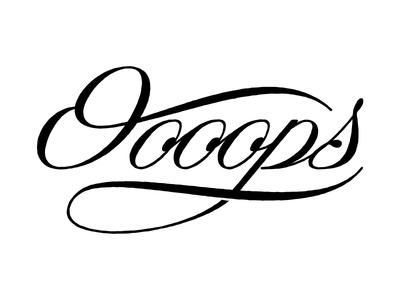 Oooops design graphic lettering oooooooooops