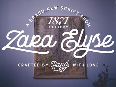 Zara Elyse alabama birmingham handcrafted handmade typeface type typography logo lettering branding font