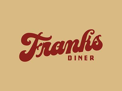 Franks typeface branding hand lettering script fat bottom lettering font diner
