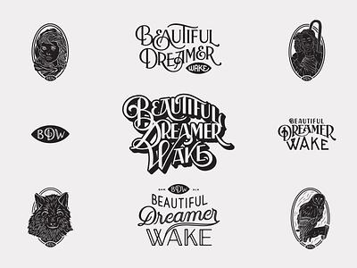 Beautiful Dreamer Wake alabama hand lettering birmingham handlettering logo branding lettering