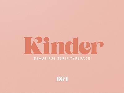 Kinder logo branding typography high contrast typeface serif font serif leterring