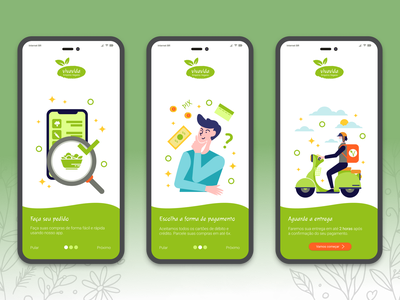 #DailyUI - Day 23 - Onboarding vegan design study dailyui challenge userinterface uidesign interface fiction