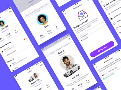 Lyft- A new user profile for rider and driver product design ux setting profile lyft