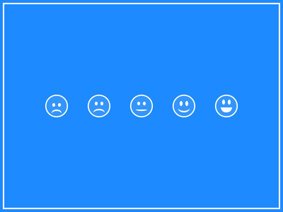 Face Rating smile rating rate star icon