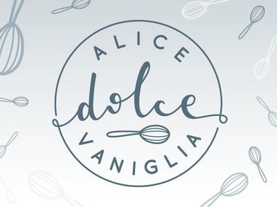 Logo for Alice Dolce Vaniglia dessert recipe sweet blog alicedolcevaniglia logo