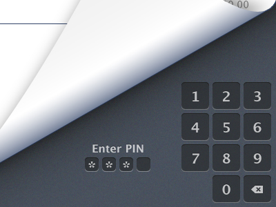Enter Pin pin bank ux