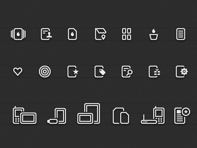 Set of icons vodafone icon news illustrator account store shop cart vector shopping setting favourite search gift catalogue telephone smartphone tablet sim internet promotion around coupon adsl