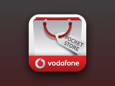 Vodafone PocketStore - Icon icon ios android vodafone pocketstore shop shopping shopper bag label