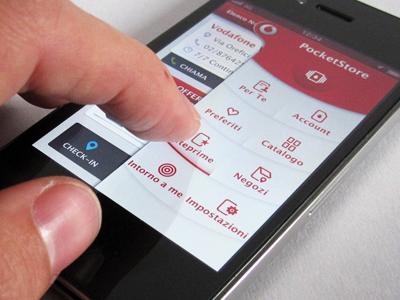 Vodafone Pocketstore - Menu menu vodafone pocketstore sliding app ios android button
