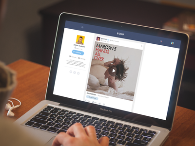Echo App Coming Soon photo photography ui ux interface flat ukraine appdesign webdesign feed socialnetwork player