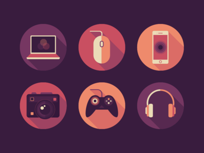 IT Office Icons Set creative media social webdesign appdesign ukraine it interface ui set flat icons