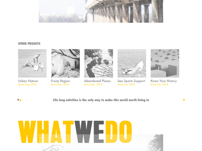 Arts, Culture & Education Curation | Landing concept education animation arts photo bw motion landing site web ux ui