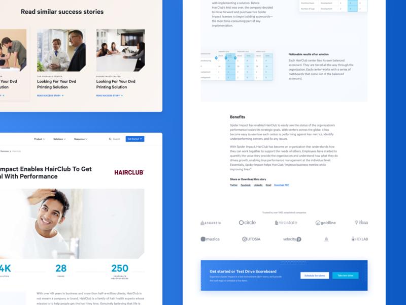 Customer Success Case logo statistics dashboard analytics clients blue case portfolio client